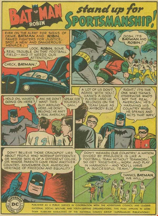 Be like Batman and stand up for sportsmanship!