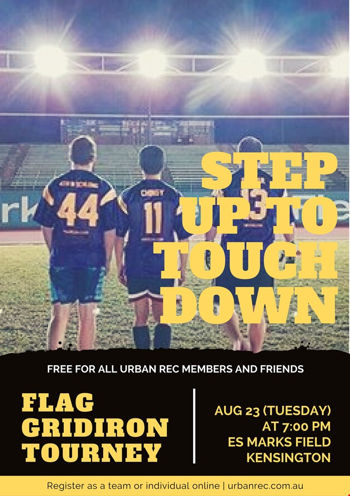 Flag Gridiron Tourney - August 23rd