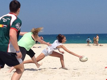 Beach Touch Footy